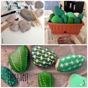 DIY Rock Cactus Garden – giardino fai da te