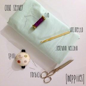 DIY Fettuccia di cotone riciclando un vecchio lenzuolo
